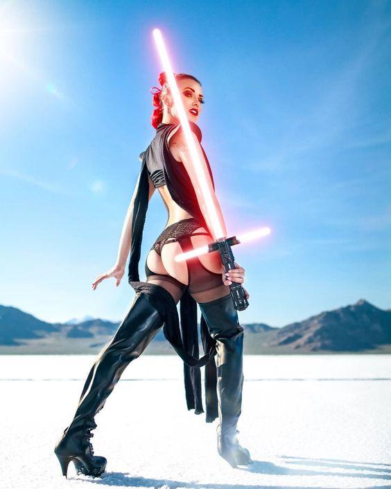 Джоани Бросас звездные войны joanie brosas cosplay star wars обнаженная