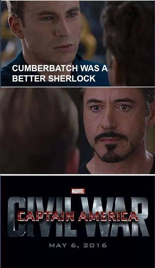 Мем Civil War Marvel Старк Капитан Америка Противостояние